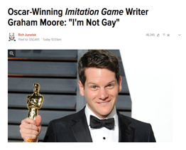 Graham Moore not gay